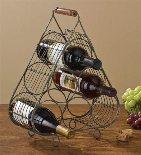 Park Designs Weinregal für 6 Weinflaschen, Vintage-Stil, Metalldraht, freistehend -