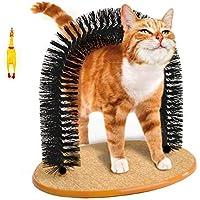 Katzen-Kratzbogen mit weichen, bequeme Borsten, für die Massage und Selbst-Pflege von Katzen und Kätzchen, süßes, luxuriöses Spielzeug mit Katzenminze