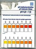Farbfixierte Indikator-Streifen Test 100 Stck. Indikatorstäbchen Kosmetex zur pH-Messung 4-7 von Vaginalsekret