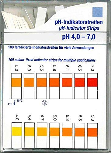 Farbfixierte Indikator-Streifen Test 100 Stck