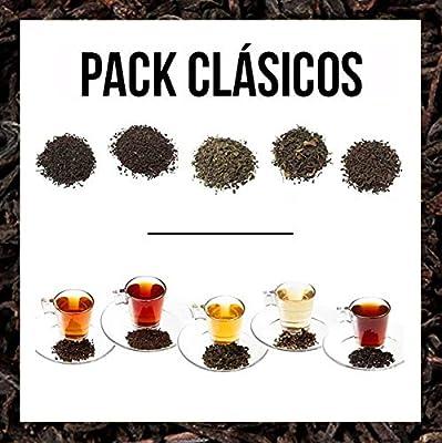 Aromas de Té - Paquet contient Cásicos Moruno + Pu erh thé rouge Yunnan Thé noir + Petit déjeuner Formosa Oolong Thé bio + + Semi fermentée Thé noir Earl Grey