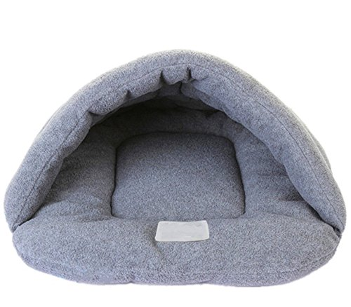 Haustier Tasche Matte Zwinger Decke Kissen Hunde Katze Hamster Welpe Hase Bett Haus Schlafen (S (28*38cm), Grau)