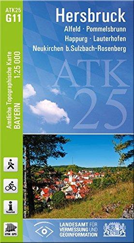 ATK25-G11 Hersbruck (Amtliche Topographische Karte 1:25000): Alfeld, Pommelsbrunn, Happug, Lauterhofen, Neukirchen b.Sulzbach-Rosenberg (ATK25 Amtliche Topographische Karte 1:25000 Bayern)