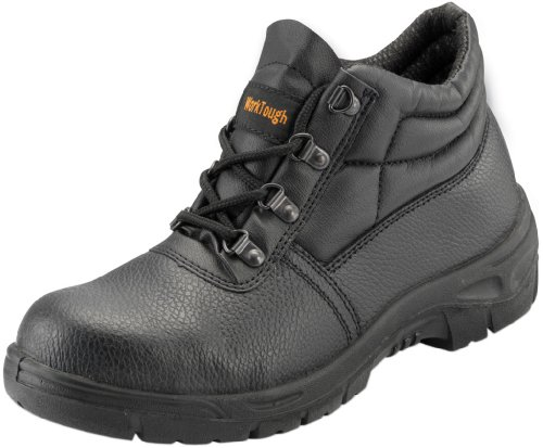 CCA WORKTOUGH Safety Chukka Boots (Steel Midsole) - Black - UK 3 - 101SM03 Safety Chukka Boot