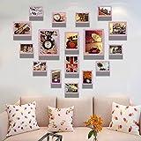 ZYN Foto Wand Schlafzimmer Hintergrund Wand Herzförmige Kombination Kinderzimmer Foto Wandbehang (Farbe : E)
