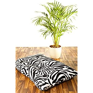 Brandsseller XXL Kissen Tierfellmotiv Sitzkissen Hundekissen Dekokissen 100 x 60 cm - Zebra