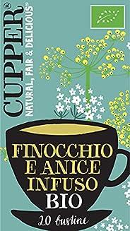 Cupper Tisana Biologica Finocchio e Anice (confezione da 20 Bustine)