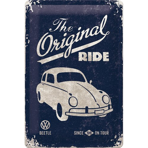 nostalgic-art-vw-beetle-the-original-ride-placa-decorativa-metal-20-x-30-cm-color-azul