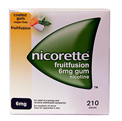 NICORETTE FRUITFUSION 6MG GUM 210 pieces by NICORETTE