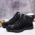 UBFEN Mens Womens Snow Boots Winter Warm Plush Booties Outdoor Sports Walking Hiking High Top Shoes 12