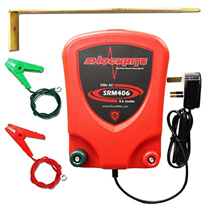 ShockRite Electric Fence Mains Energiser Energizer SRM406 0.6J Fencer Unit 1