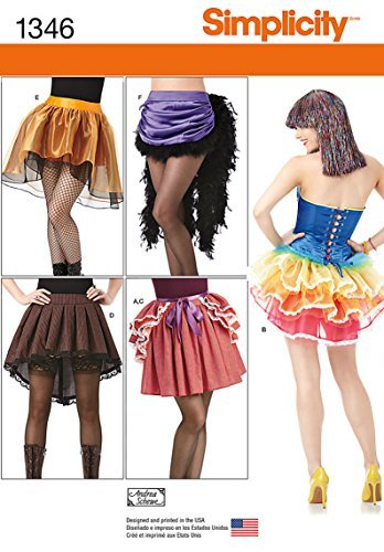 Simplicity Creative Patterns 1346 Misses' Costume Skirts and Bustles Sewing Patterns, Size R5 (14-16-18-20-22) by Simplicity Creative Inc. Patterns Bustle Skirt Pattern