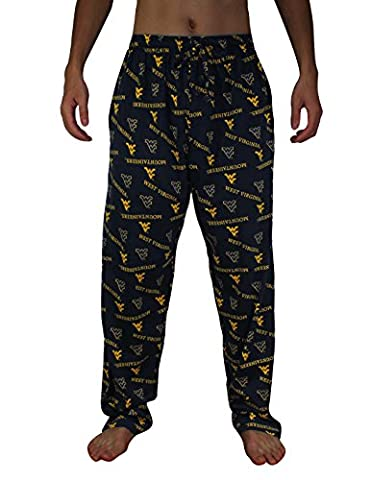 NCAA Mens West Virginia Mountaineers Cotton Sleepwear / Pajama Pants 2XL Multicolor
