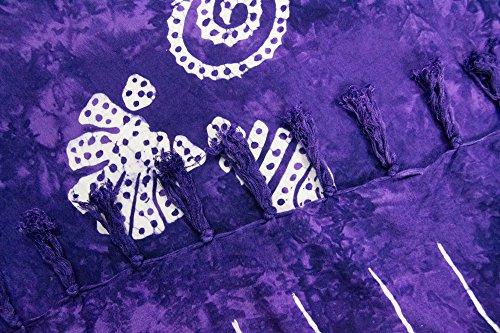 ManuMar Donna sarong   Pareo telo mare   leggero per telo fasciatoio con frange nappe Lila Muschel