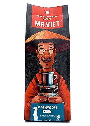 Mr Viet Chon Café Moulu | Frais et Livrés Promptement du Vietnam - Authentique Torréfié Vietnamien Kopi Luwak Analogue, Adapté Pour Toutes Les Machines à Café 250g