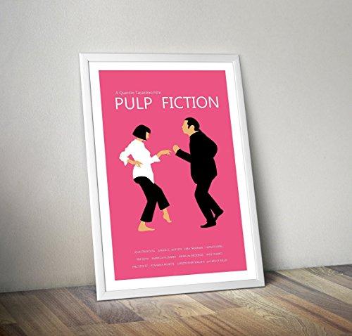 Pulp Fiction Poster - Quentin Tarantino Print - Alternative TV / Filmdrucke in verschiedenen Größen (Rahmen nicht im Lieferumfang enthalten)