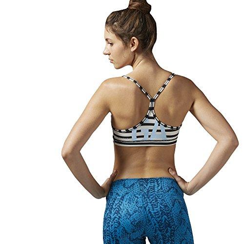 Reebok Yoga Stripe Brassière de sport Multicolore - noir
