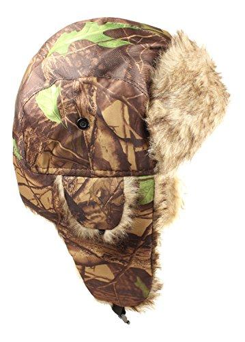 Jäger Camo Hüte–Russian Winter Stil–Trapper Typ Strickmütze mit Ohrenklappen, Elk (Halloween Dekor Outdoor Ideen)