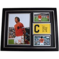 Sportagraphs Johan Cruyff SIGNED FRAMED Armband & Photo Autograph 16x12 display Holland COA PERFECT GIFT