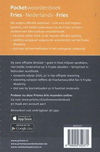 Prisma pocketwoordenboek Fries: Fries-Nederlands, Nederlands-Fries (Pocket woordenboeken)