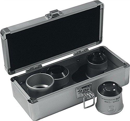 Preisvergleich Produktbild Uhrmacherlupen-Set Profi-Set Tech-Line 6x, 8x, 10x, 15x in Alu-Box 4tlg.