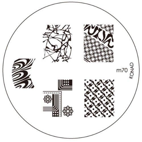 KONAD Stamping Pochoir pour nail art M70