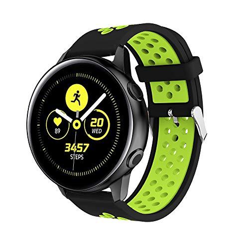 cobar silicone watchband compatible with forerunner 645, 20mm multi-holes rilascio rapido regolabile cinturini di ricambio sostituzione per garmin forerunner 645/ forerunner 645 music