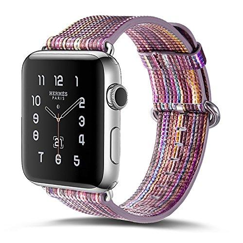 Preisvergleich Produktbild Armband für Apple Watch 38mm, PU Leder Ersatzband mit Edelstahl Gürtelschnalle Leder Uhrenarmband für Apple Watch 38mm Series 1 / 2 / 3 (A) (6)