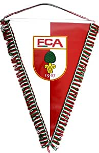 2 FC Augsburg Wimpel Rot-Weiss FCA m Autosauger Fussball Bundesliga Fan Artikel