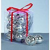 12 x Silver Christmas Jingle Bells