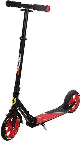 FERRARI Fxa70Blk 2 Wheel Scooter, Black