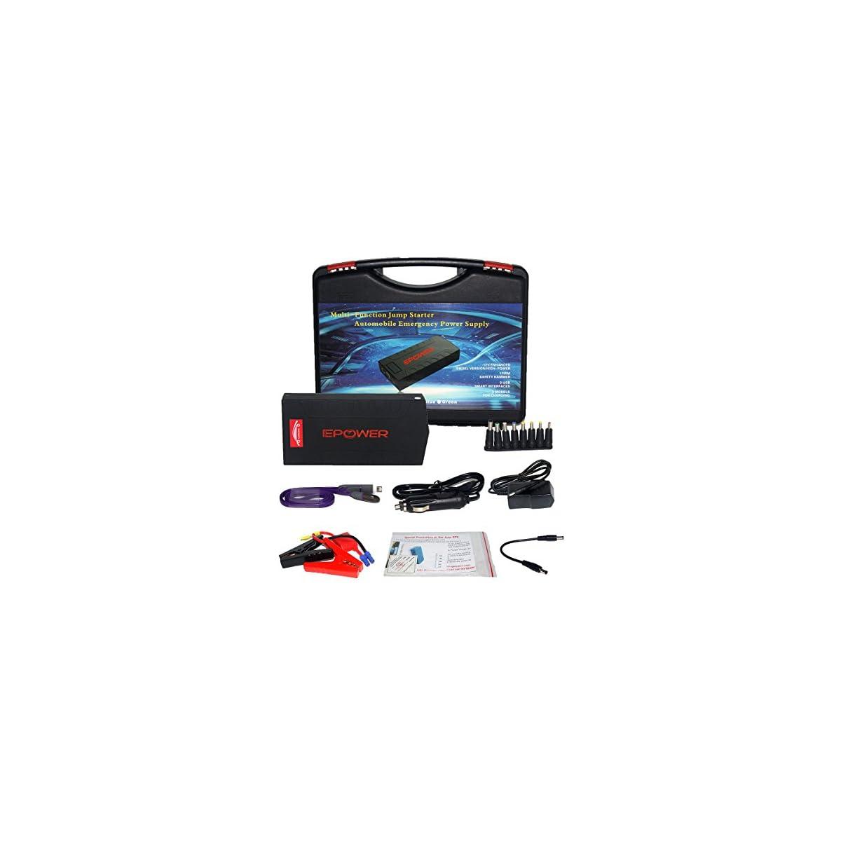 51kdTh3X0LL. SS1200  - CS-07 Jump Starter 18000mAh 12V Energía Arranque Emergencia para Coche,iPhone iPad BQ Samsung y Otro Movíl Inteligente,Tablet PC con Linterna LED & Cargador de Batería Externa del Coche