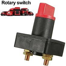 Espeedy Desconecte la batería Interruptor selector Kill,100A aislador de la batería Desconecte la energía cortó el interruptor del selector de la matanza para el coche de barco van truck