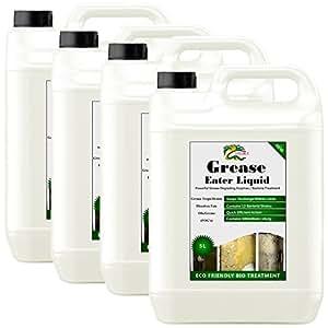 Hydra Graisse Eater Enzyme liquide 2x (4x 5) L drain & Piège à graisse Nettoyant biologique Enzyme pour graisse, huile et graisse pour
