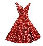 50er Jahre Rockabilly-Kleid INKLUSIVE PETTICOAT 50's - Dolly Rot, Größe:42