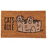 Puckator Simon' S Cat zerbino-Cats Rule, Fibra de Coco, Marrón, 75x 2x 45cm