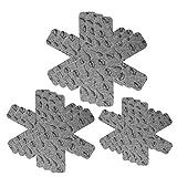 3 Misure Set di 24 Protezioni per Piatti YFairy in Morbido Feltro pentole pentole Protezioni AntiGraffio Grey separatore per padelle pentole pentole impilabili