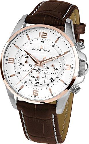 Jacques Lemans Damen-Armbanduhr Liverpool Analog Quarz Leder 1-1857D