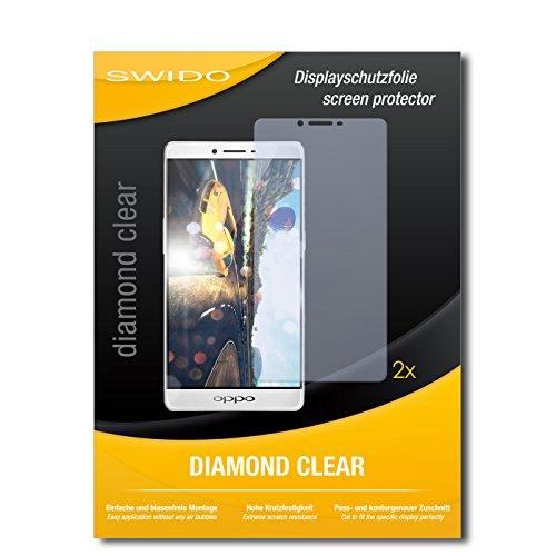 2 x SWIDO® Bildschirmschutzfolie Oppo R7 Plus Schutzfolie Folie