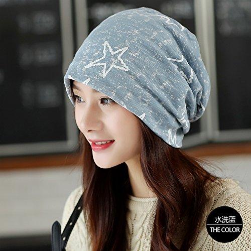 KYXXLD Winter hat Bag Cap s Casual Hut Mütze Cap gewaschen blau
