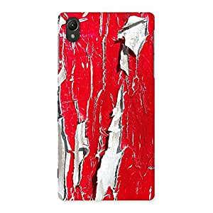 Special Red Ripped Paint Print Back Case Cover for Sony Xperia Z2