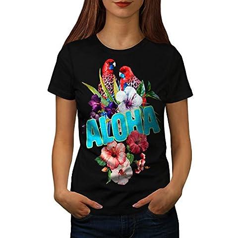 Hawaiian Aloha Bloom Women L T-shirt | Wellcoda