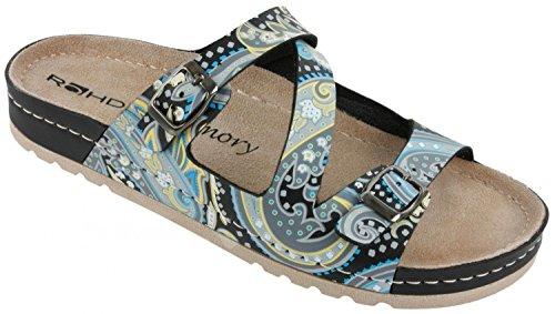 ROHDE Donna Suola per scarpe Pantofole memoria Soletta 5806 Toni Del Blu