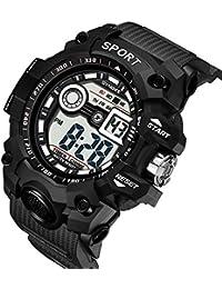 Zolimx Elektronische Uhr für Herren Multi-Funktions Wasserdichte Uhren LED Digital Double Armband
