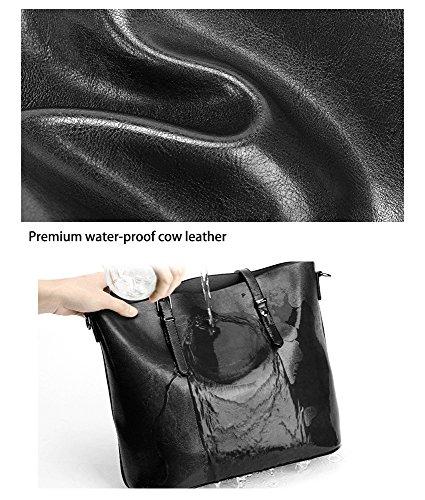 Essvita Ladies Hand Bag Bag Tote Shoulder Bag Per Donna Big Pu In Pelle Con Manico Messager Handbag Rosa Nero