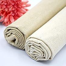 Youmu tela de lino y algodón Natural, color sólido cáñamo yute de arpillera tela para