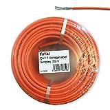 Faval k5686Cable de instalación Cat750m naranja Cat.7neztwerk Cable Cable de instalación aluminiumbeschichtet verzinntes entretejido de cobre