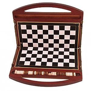 Juegos De La Antigüedad- Damas, Color Madera de Palo Rojo (Games Pico Pao 151)