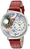 Whimsical Watches Unisex U0910004 Imitation Birthstone: April Red Leather Watch best price on Amazon @ Rs. 1036