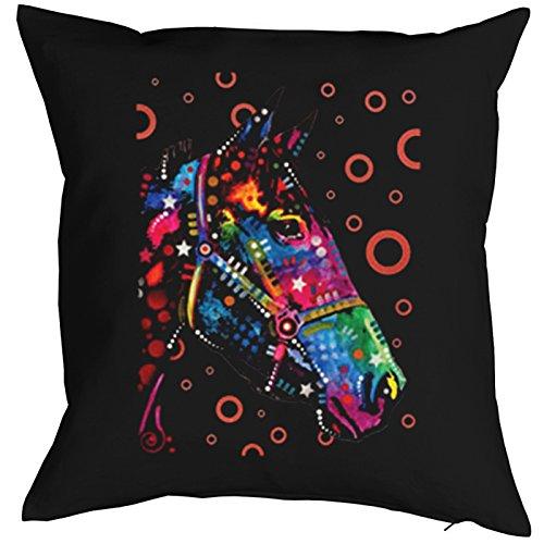 mit Füllung und super Neon Motiv: Pferdekopf und Seifenblasen ()